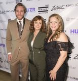 Bombshell: The Hedy Lamarr Story. New York, NY, USA - November 20, 2017: L-R Adam Haggiag, Susan Sarandon and Alexandra Dean attends Theatrical opening of Royalty Free Stock Photos