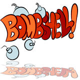 Bombshell Sound Effect Text Stock Photo