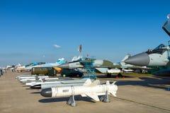 Bomby i pociski dla rosjanina wietrzą wojownika obraz royalty free
