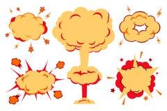 Bomby I wybuchu set również zwrócić corel ilustracji wektora Obraz Stock