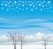 Bomen & berg Royalty-vrije Stock Afbeelding