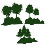 Bomen en struiken royalty-vrije illustratie