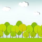 Bomen en struiken. naadloos vectorpatroon Royalty-vrije Stock Foto