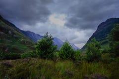 Bomen en wolken, Ben Nevis-waaier royalty-vrije stock fotografie