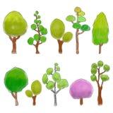 Bomen gekleurde krabbel Royalty-vrije Stock Afbeelding