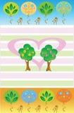 Bomen in liefde Stock Afbeeldingen