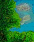 Bomen tegen een blauwe hemel Stock Afbeeldingen