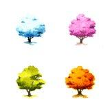 Bomen in verschillende seizoenen Royalty-vrije Stock Afbeelding