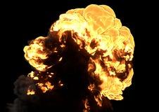 Bomexplosie - het 3D teruggeven stock foto