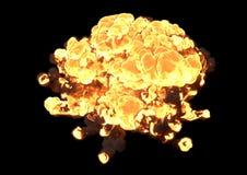 Bomexplosie - het 3D teruggeven royalty-vrije stock fotografie