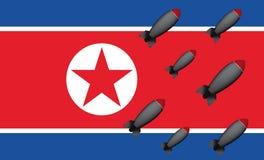 Bommen de Noord- van Korea Stock Foto's