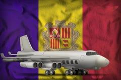 Bommenwerper op de de vlagachtergrond van de staat van Andorra 3D Illustratie stock illustratie