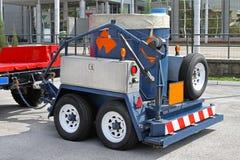 Bomopruimingsaanhangwagen Stock Foto's