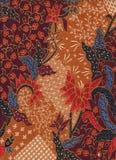 Bomullstyg med den blom- batikmodellen Royaltyfri Bild