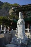 Bomunsa tempel, Jeju ö, Sydkorea Arkivbilder