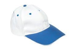 Bonés de beisebol azuis e brancos da cor imagem de stock
