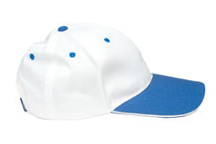 Bonés de beisebol azuis e brancos da cor imagens de stock royalty free
