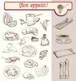 Bon Appetit ilustração do vetor