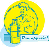 Bon Appetit!. Ready made retro sign for catering Stock Images
