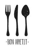 Bon appetit affiche Stock Foto