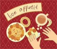 Bon appetit for the breakfast Stock Images