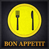 Bon Appetit Concept Design Card Stock Images