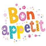 Bon appetit. Decorative type lettering design Royalty Free Stock Photo