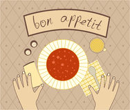 Bon appetit for the dinner Royalty Free Stock Photos