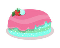 Bon Appetit. Festive Cake Web Banner. Chocolate Stock Photo