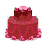 Bon Appetit. Festive Cake Web Banner. Chocolate Royalty Free Stock Photo