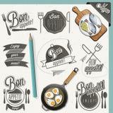 Bon Appetit! Geniet van uw maaltijd! Stock Afbeelding