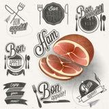 Bon Appetit! Geniet van uw maaltijd! Stock Foto's