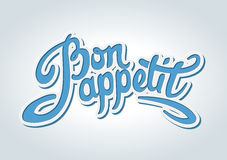 Bon appetit hand drawn lettering Royalty Free Stock Image
