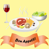 Bon Appetit Royalty Free Stock Photography