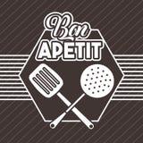 Bon appetit image. Icon vector illustration design graphic Stock Photography