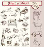 Bon appetit meat products Stock Photography