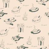 Bon appetit naadloos patroon Royalty-vrije Stock Fotografie