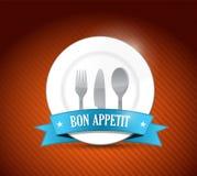 Bon appetit restaurant design illustration design Stock Photos