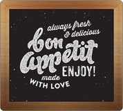 Bon appetit retro culinary sign Stock Images