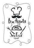 Bon Appetit Sea Food restaurant Menu card. Bon Appetit Sea Food restaurant Royalty Free Stock Photography