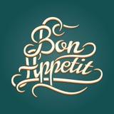 Bon Appetit vintage lettering Royalty Free Stock Image