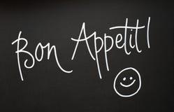 Bon Appetit-Zeichen stockfoto