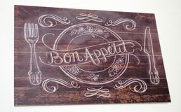 Bon Appetite Board Photographie stock