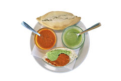 Bon appetite (bread and sauces) Stock Photography
