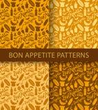 Bon appetite pattern Stock Photo