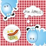 Bon appettit  hot dog and eggs Stock Photo