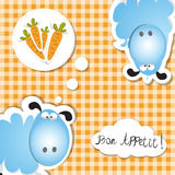 Bon appettit  vegetables Stock Images
