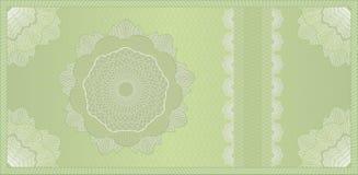 Bon, billet de banque ou certificat de guilloche Photographie stock libre de droits