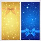 Bon, bon, chèque-cadeaux, carte cadeaux. Étoile Images stock