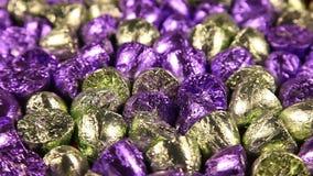 Bon-bon sötsaker som roterar närbild stock video